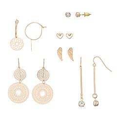 Mudd® 6 Pair Lattice Earrings