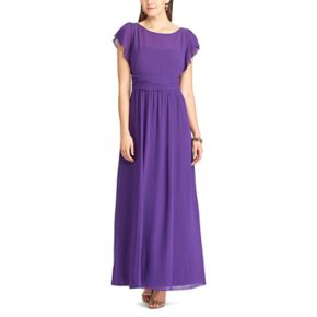 Women's Chaps Georgette Overlay Gown