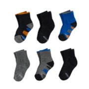 Baby / Toddler Boy Stride Rite 6-pk. Dillon Pop Color Quarter Crew Socks