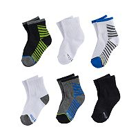Baby / Toddler Boy Stride Rite 6-pk. Bryan Basic Quarter Crew Socks