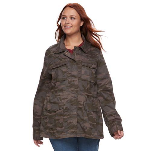 7e5aab1e226e9 Plus Size SONOMA Goods for Life™ Embroidered Utility Jacket
