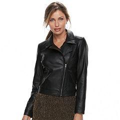 Women's Apt. 9® Faux Leather Moto Jacket
