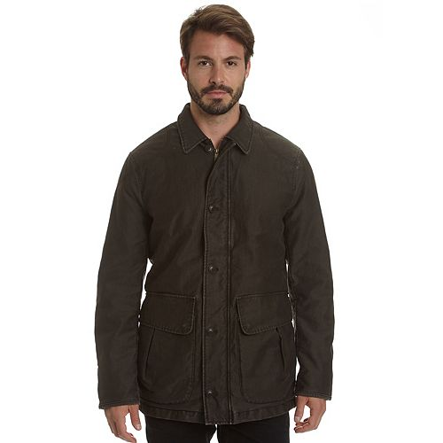 Men's Haggar Garment-Washed Barn Coat