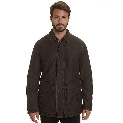 Big & Tall Haggar Garment-Washed Barn Coat