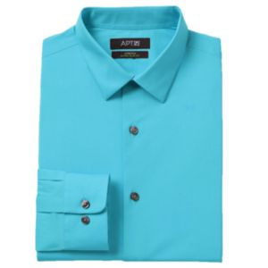 Men's Apt. 9® Slim-Fit Stretch Spread-Collar Dress Shirt!