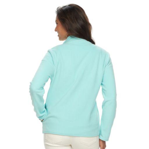 Women's Croft & Barrow® Print Microfleece Jacket