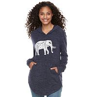 Juniors' Grayson Threads Elephant Hasma Tunic Hoodie