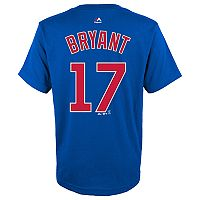 Boys 8-20 Majestic Chicago Cubs Kris Bryant Name & Number Tee