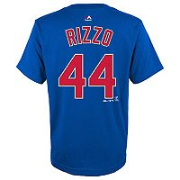 Boys 8-20 Majestic Chicago Cubs Anthony Rizzo Name & Number Tee