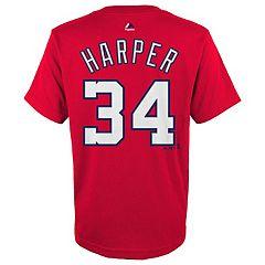 Boys 8-20 Majestic Washington Nationals Bryce Harper Name & Number Tee
