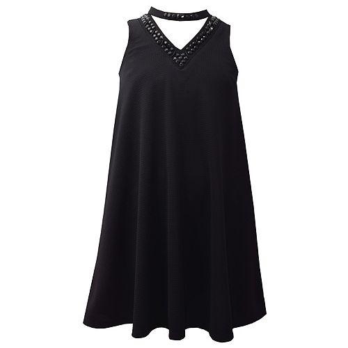 Girls 7 16 Plus Size Bonnie Jean Mockneck Swing Dress