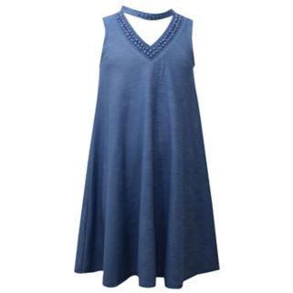 Girls 7-16 & Plus Size Bonnie Jean Mockneck Swing Dress