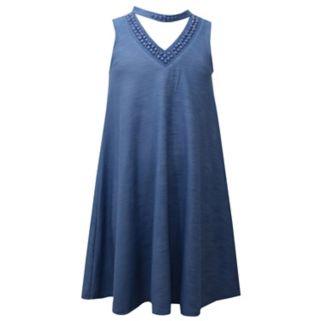 Girls 7-16 & Plus Size Bonnie Jean Mockneck Swing Dress