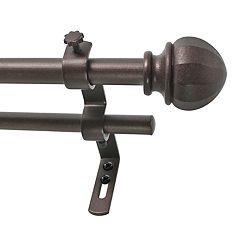 Decopolitan Faceted Ball Adjustable Double Curtain Rod