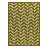 Linon Innovations Chevron Reversible Indoor Outdoor Rug - 6'6'' x 9'6''