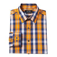 Men's Apt. 9® Extra-Slim Fit Gingham-Checked Stretch Dress Shirt
