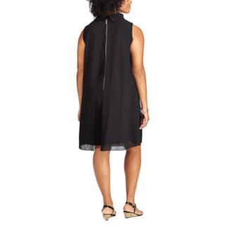 Plus Size Chaps Georgette Overlay Dress