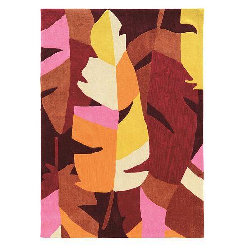 Linon Trio Tropic Leaf Rug