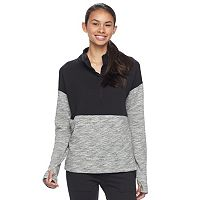Junior's SO® Fleece Quarter Snap Pullover Top