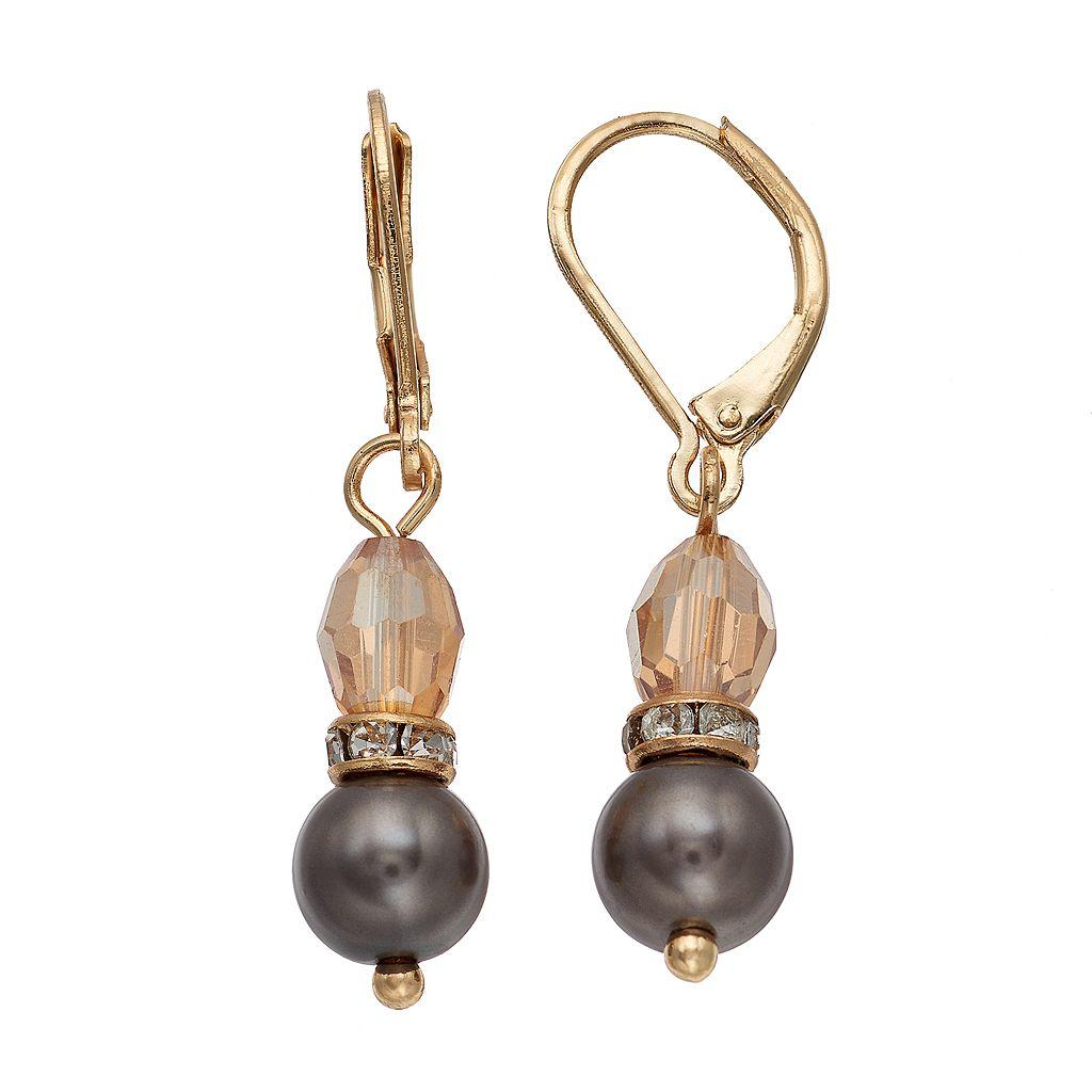 Napier Beaded Drop Earrings