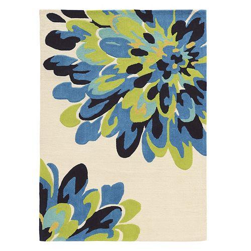 Linon Trio Bloom Floral I Rug