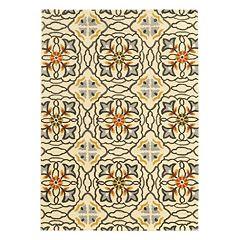 Linon Trio Geometric Floral I Rug