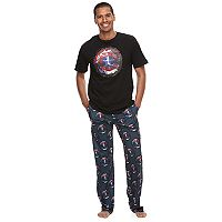 Men's Marvel Captain America Shield Tee & Lounge Pants Set