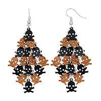 Glittery Skull & Crossbones Kite Earrings