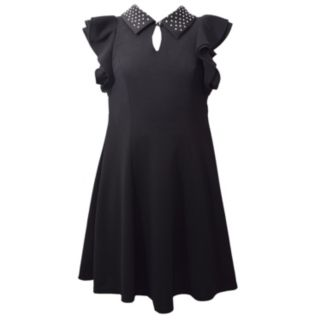 Girls 7-16 Bonnie Jean Peter Pan Collar Double Ruffle Dress