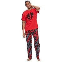 Men's Marvel Deadpool Tee & Lounge Pants Set