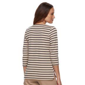 Petite Croft & Barrow® Zip-Pocket Sweater