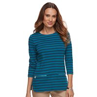 Petite Croft & Barrow® Zip-Pocket Sweater