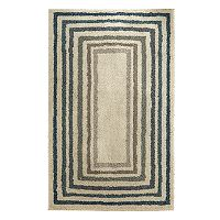 Mohawk® Home Laguna EverStrand Sketched Striped Border Shag Rug