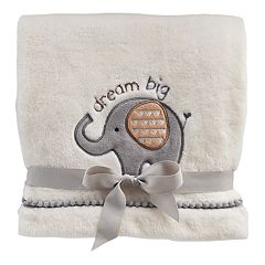 Just Born 'Dream Big' Elephant Plush Fleece Baby Blanket