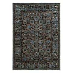 Linon Platinum Isphahan Framed Floral Rug