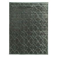 Linon Platinum Raw Iron Trellis Rug