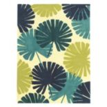 Linon Le Soliel Spring Blues Floral Indoor Outdoor Rug