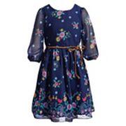 Girls 7-16 & Plus Size Emily West Floral Chiffon Dress with Braided Belt