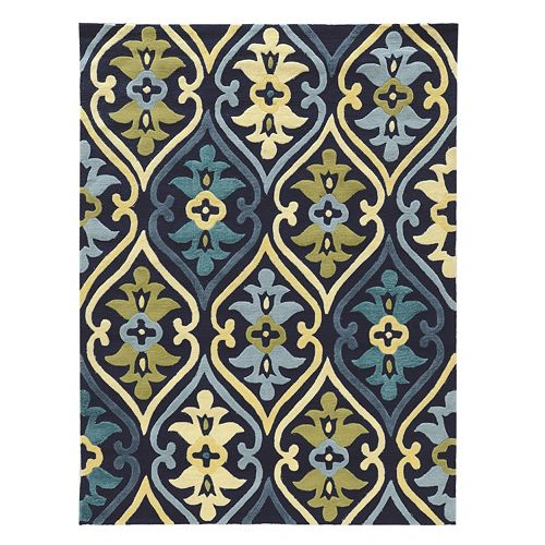 Linon Le Soliel Damask Indoor Outdoor Rug