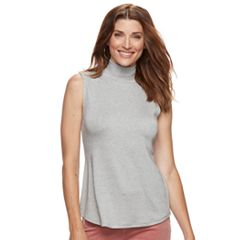 Women's Croft & Barrow® Sleeveless Mockneck Top