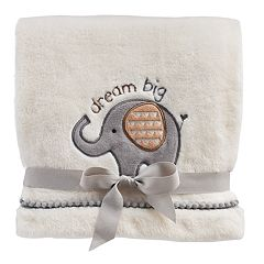 Just Born Safari Plush Fleece Baby Blanket