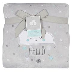 Just Born 'Hello Little One' Elephant Fleece Baby Blanket