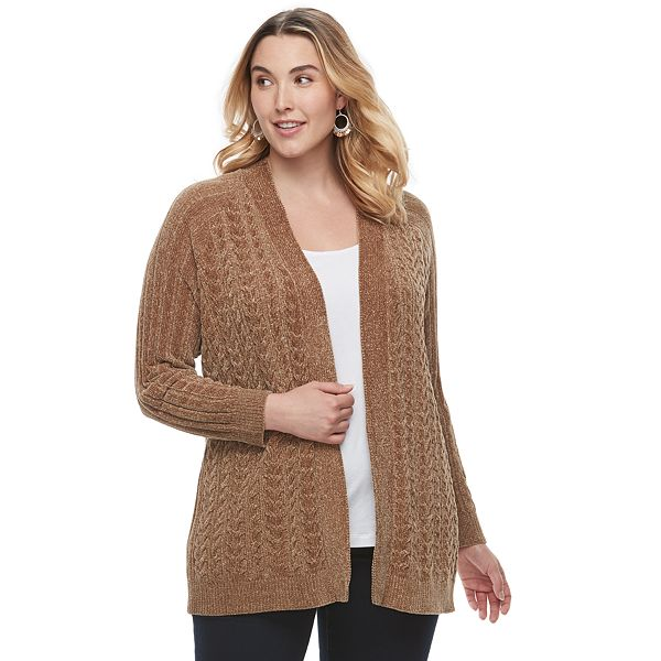 Plus Size Sonoma Goods For Life® Chenille Cardigan