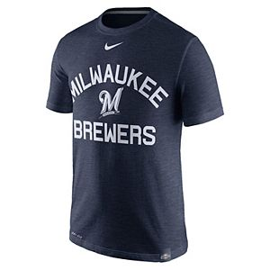 Men's Nike Milwaukee Brewers Arch Logo Tee