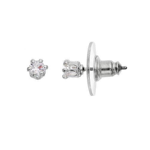 Dana Buchman Cubic Zirconia Solitaire Stud Earrings