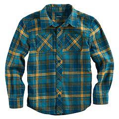 Boys 4-7x SONOMA Goods for Life™ Plaid Button Down Pocket Shirt