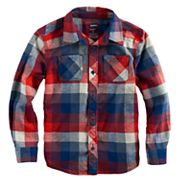 Boys 4-7x SONOMA Goods for Life™ Plaid Button Down Pocket Shirt
