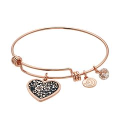 love this life 'Daughter I Love You' Heart Bangle Bracelet