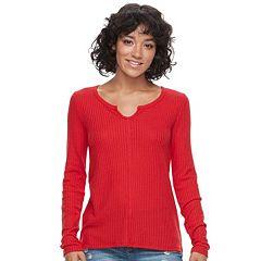 Juniors' SO® Waffle-Knit Top