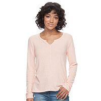 Juniors' SO® Waffle-Knit Top